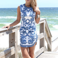Paradise Point Blue Summer Dress