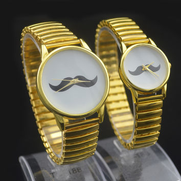 Designer's Gift Great Deal Good Price Stylish Awesome New Arrival Trendy Elastic Stainless Steel Band Couple Watch [8863737607]