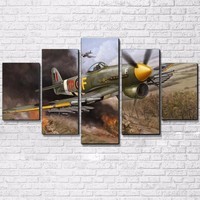 Military Airplane Aircraft Vintage Plane Wall Art on Canvas Home Decor