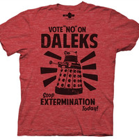 Doctor Who - Vote No on Daleks T-Shirt