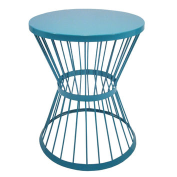 Garden Treasures 20 In Blue Powder Coated Outdoor Round Steel Pl Plant Stand