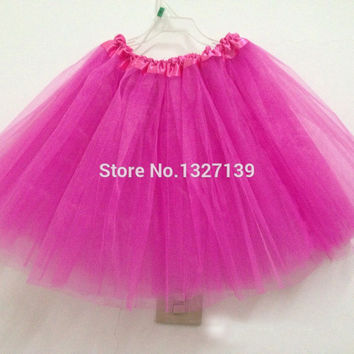 Women Girl Pretty Elastic Stretchy Tulle Dress Teen 3 Layer Adult Tutu Skirt