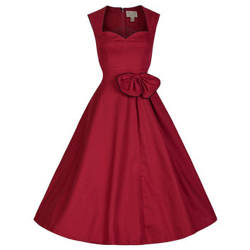 Plus Size Retro Vintage 50s 60s Rock Roll ROCKABILLY Bow Rockabilly Swing Party Dresses Plus Size Vestidos Femininos