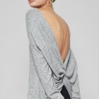 Knot Back Sweater in Grey