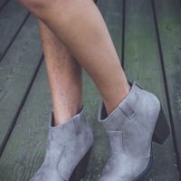 Elegant Faux Suede Booties in Taupe