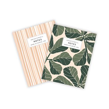 HEARTSWELL FIDDLE LEAF POCKET NOTEBOOK SET