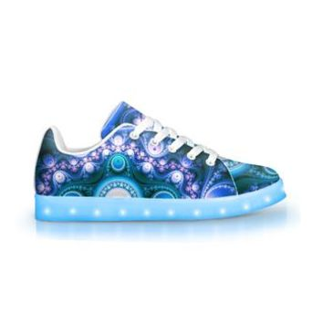 Geometric Trip - APP Controlled Low Top Light Up Shoes