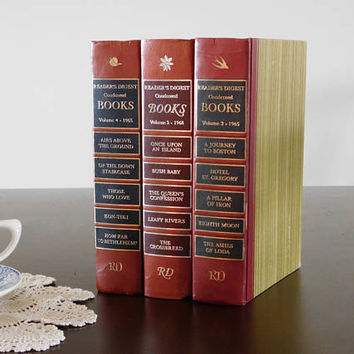 Red Book Stack Reader's Digest Condensed Books