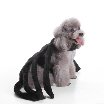 Hot Sales Pet Dog Puppy Cute Spider Harness Costume Clothes Apparel Halloween Fancy Party