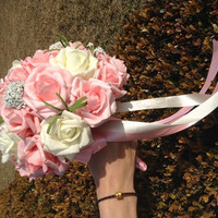 Latex Flowers Real Touch Artificial Flowers Hand Tied Bouquet For DIY Bouquets Bridal Decor = 1932153924