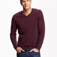 Old Navy Mens Solid V Neck Sweaters