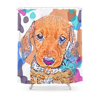 Society6 Watercolors Dachshund Weiner Dog Doxie Every Shower Curtain