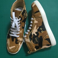Cl Christian Louboutin Leather Style #2143 Sneakers Fashion Shoes