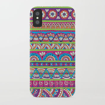 Patterned Stripes iPhone Case by Sarah Oelerich