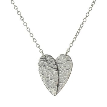Memorial jewelry Always in my Heart necklace handcrafted in silver