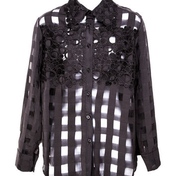 Check Me Out Sheer Button Up