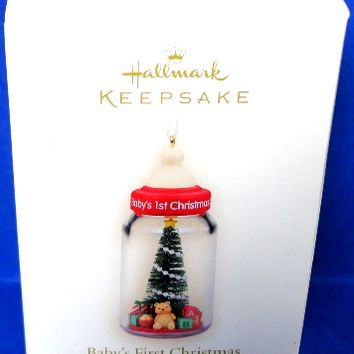 2008 Baby's First Christmas Bottle Hallmark Retired Ornament