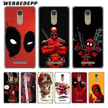 Deadpool Dead pool Taco WEBBEDEPP Marvel  Comic Spiderman Phone Case for Xiaomi Redmi 4X 4A 5A 5 Plus 6 Pro 6A 3S S2 Note 5 Pro 4X Cover AT_70_6