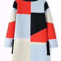 Color Block Lapel Long Sleeve Pocket Open Front Knit Cardigan - Choies.com
