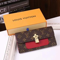 Louis Vuitton Denim  Leather Wallet