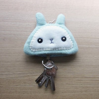 Bunny Keychain Pouch - Bunny accessories - key pouch -  READY TO SHIP