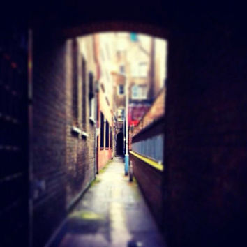 Architectural Photography | Geometric | Travel Photo | London | England | Wall Art | Red Brick | Sunlight | Blue | Green | East London