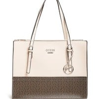 Poise Logo Satchel at Guess