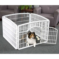 "Walmart: IRIS 4 Panel Indoor/Outdoor Pet Pen Containment W35""xL35""xH24"", White"