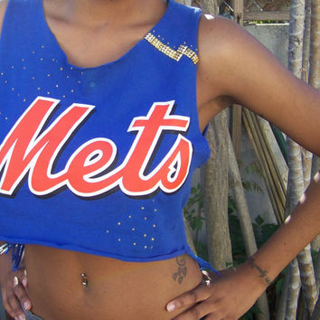 New York Mets Crop Top