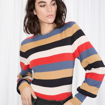 & Other Stories | Crewneck Sweater | Multi Stripe