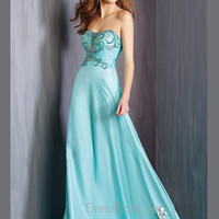 Embellished Strapless Bodice Formal Prom Gown By Alyce Paris 6315