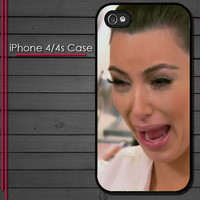 iPhone 4 Case - Kim Kardashian Crying Face - iPhone 4s Case - iPhone 4 cover  skin -