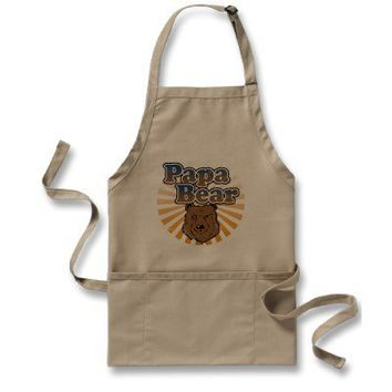 Papa Bear, Cool Fathers Day Vintage Look Aprons from Zazzle.com