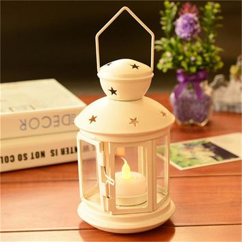 Newest Metal Hanging Candle Holder Pavilion Candlestick Romantic Wedding Dinner Decor Stars Candle Holders home aisle Light