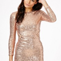 Missguided - Abasi Sequin Mesh Cut Out Dress