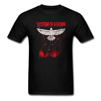 System Of A Down SOAD T Shirt EAGLES OVERCOME ROCK METAL MUSIC Men Women Tee euro sizeS-XXXL