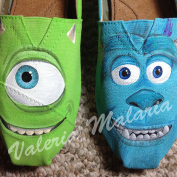 Monsters TOMS shoes by ValeriaMalariaArt on Etsy