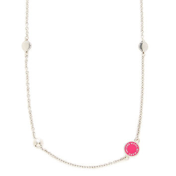 Marc by Marc Jacobs Jewelry Women's Double Wrap Disc Necklace - Pink