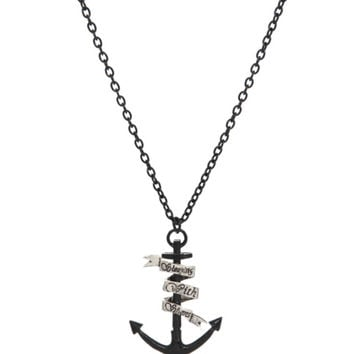 Sleeping With Sirens Anchor Necklace