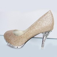Glitter High Heel Pumps
