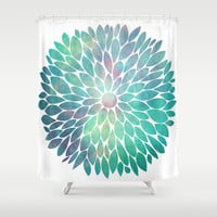 Watercolor Flower Shower Curtain by Digi Treats 2
