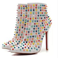 christian/louboutin New Women's Belle High Heel Boots