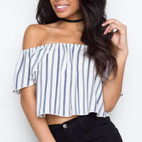 I Dare You Off The Shoulder Top - White