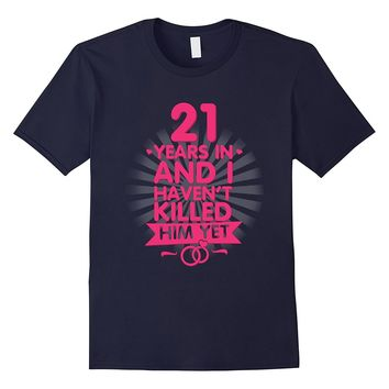 21 Years of Marriage T shirt. 21st Anniversary Gift for Wife