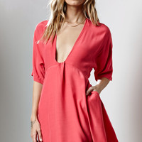 Lucca Couture Dolman Sleeve Flare Dress at PacSun.com