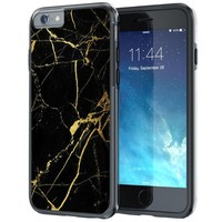 """iPhone 6 6s Case, True Color® White Marble [Stone Texture Collection] Slim Hybrid Hard Back + Soft TPU Bumper Protective Durable [True Protect Series] iPhone 6 / 6s 4.7"""""""