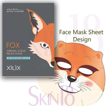 Xilix Fox animal AQUA relax mask sheet (Calm)