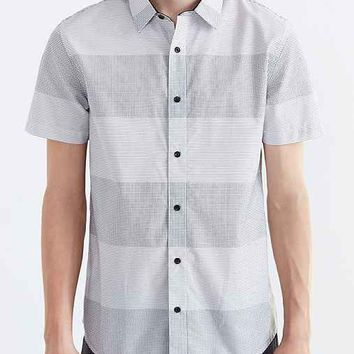 ourCaste Graph Paper Button-Down Shirt- White