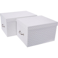 Bigso Box Of Sweden Two Piece White Storage Box Set