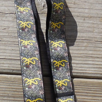 Camo Ribbon Lanyard, ID Holder, hunters, Yellow browning camo
